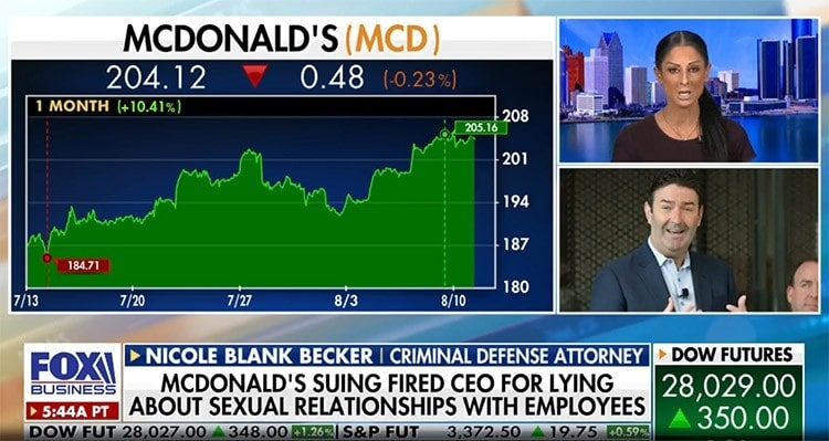 Attorney Nicole Blank Becker on former McDonald's CEO Steve Easterbrook Case