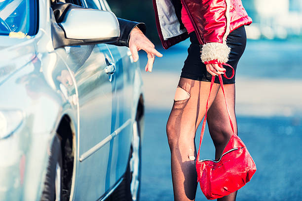 Prostitute with Ripped Stockings