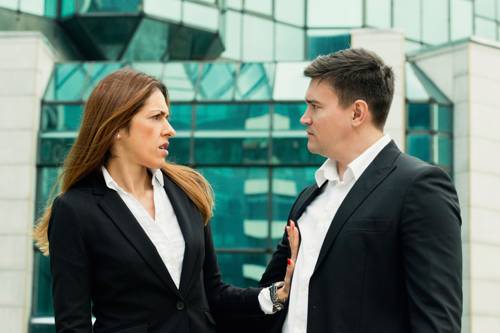 Sexual harassment between two business people sexual assault