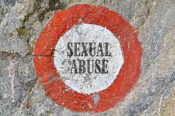 Text Sexual Abuse inside of a red circle criminal sexual conduct